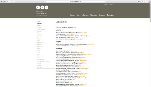 You can browse through the collections which have provided the database with information on coins.