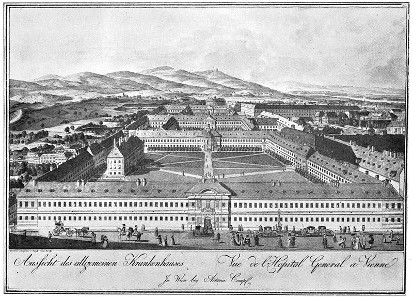 The old Vienna General Hospital, 1784.