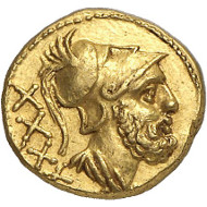 Lot 351: ROMAN REPUBLIC. Anonymous. 40 asses, 211-207, Rome. Extremely rare. Extremely fine. Estimate: 25,000,- euros. Hammer price: 55,000,- euros.