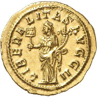 Lot 467: ROMAN EMPIRE. Philippus I Arabs, 244-249. Aureus, 244-247, Rome. FDC. Estimate: 32,000,- euros. Hammer price: 46,000,- euros.