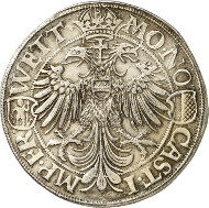 Lot 4115: FRIEDBERG. Double thaler 1591. Unique. Extremely fine. Estimate: 40,000,- euros. Hammer price: 65,000,- euros.