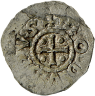 The oldest Vereonese coin with a firmly established date: Struck under Rudolph of Upper Burgundy (923-926), this denarius states Verona as its place of minting. Rizzolli-Pigozzo fig. 2.
