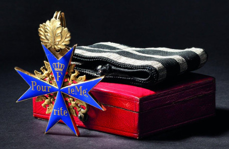 Order Pour le Mérite - a Cross with Oak Leaves 1870/71. HP: 33,000 Euros. Copyright Hermann Historica oHG 2015.