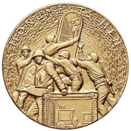 Bronze three-inch duplicate of the Congressional Gold Medal issued by the U.S. Mint. Design: Joel Iskowitz / Phebe Hemphill (obverse) and Donna Weaver Joseph Menna (reverse).