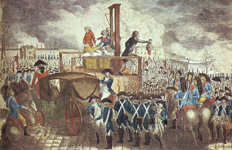 Execution of Louis XVI. Copperplate print, 1793. Source: Wikicommons.
