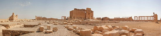 Precinct and temple of Baal in Palmyra before it was destroyed by IS terrorists on August 30, 2015. Photograph: 3rik Albers / https://creativecommons.org/licenses/by-sa/3.0/deed.en