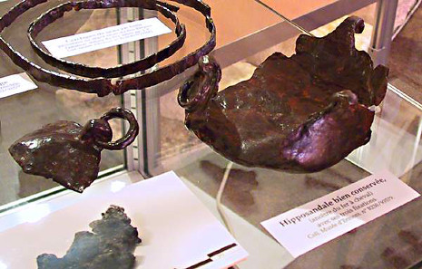 Gallo-Roman hipposandal, a predecessor to the horseshoe. Photograph: NantonosAedui / https://creativecommons.org/licenses/by-sa/2.5/deed.en