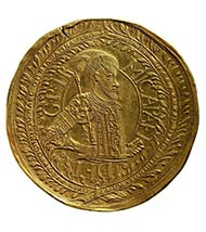 Medallion worth 100 ducats, 1677. Michael I Apafi (1661-1690), Prince of Transylvania. Gold, 346.74 g, 85 mm, 12 h. Vienna Coin Cabinet, inv. 68 bß.