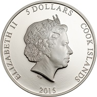 Cook Islands / 5 Dollars / Silver .999 / 1 oz / 38.61 mm / Mintage: 999.
