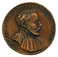 Medal of Ludovic Demoulin de Rochefort (1515-1582) by Giovanni da Cavino in the size and manner of a sesterce, HMB Inv. 2002.233.