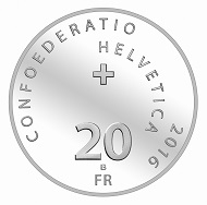 Switzerland / 20 Swiss Francs / Silver .835 / 20g / 33mm / Design: Marc Roulin / Mintage: 30,000 (Uncirculated) and 5,000 (Proof).