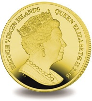 Great Britain / 5 Pounds / Yellow Titanium / 10.00 g / 36.10 mm / Mintage: 5,000.