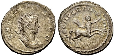 Catalogue No 474: Gallienus, 253-268. Antoninianus, 260. Rv. Centaur.