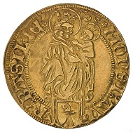 Gold gulden 1512 of the city of Basel, in the name of Pope Julius II (1503-1513), HMB inv. 1905.2508.