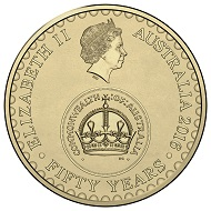 Obverse of the 2016 $2 Circulating Coin.