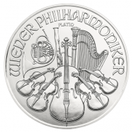 The first coin in the new platinum series of the Vienna Philharmonic is a 1 ounce issue.