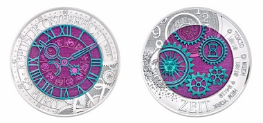 The new niobium coin is dedicated to the Time.