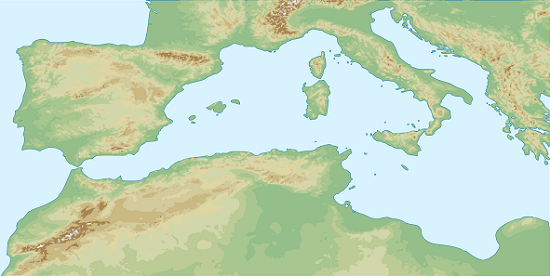Sicily benefited from its central location in the Western part of the Mediterranean Sea as a springboard between Africa and Europe. Source: Pethrus / http://creativecommons.org/licenses/by-sa/3.0