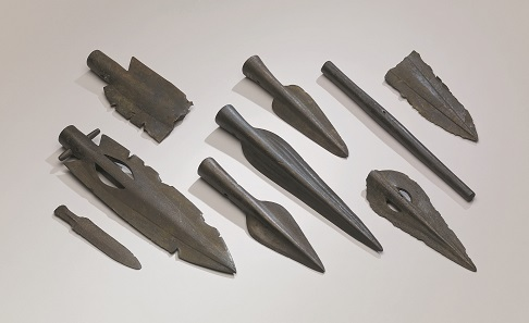 Hoard of Bronze Age weapons found in the River Thames at Broadness in Kent © The Trustees of the British Museum.