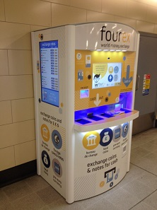 One of the four kiosks Fourex has installed in London.