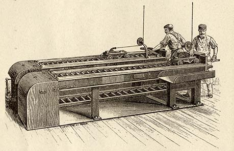 Machine for rolling the strip to reduce it to the required thickness of the coin to be produced.