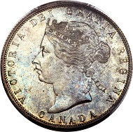 Lot 29584: Canada, Victoria, 50 cents, 1870. KM6. MS64+ PCGS. Realized: $70,500.