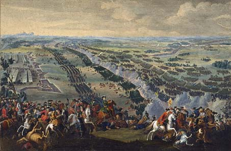 Battle of Poltava. Painting by Pierre-Denis Martin 1726. Source: Wikipedia.
