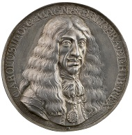 Pieter van Abeele (1608-1684), Charles II, King of England, 1660. Silver, 68.5 mm. Stephen K. and Janie Woo Scher Collection. Photo: Michael Bodycomb.
