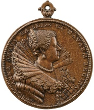 Guillaume Dupré (1574 or 1576-1643), Louis XIII / Anne of Austria (reverse), 1620. Bronze, 59.7 mm. Stephen K. and Janie Woo Scher Collection. Photo: Michael Bodycomb.