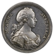 Anton Franz Widemann (1724-92), Maria Anna of Austria, 1766. Silver, 42.9 mm. Stephen K. and Janie Woo Scher Collection. Photo: Michael Bodycomb.