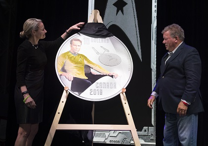 The Star Trek Kirk Coin is being launched.