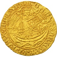 501696: Great Britain, Henry V, Half Noble, London, AU(50-53), Gold, North:1377, nearly extremely fine. 3,800 EUR.