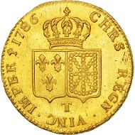 501692: France, Louis XVI, Double louis d'or, 1786, Nantes, MS(64), KM:592.14. 3,000 EUR.