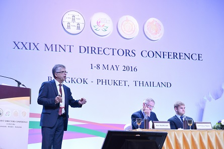 Dr Peter Huber, Director of the State Mints of Baden-Wuerttemberg and Chairman of the Benchmarking Committee. Photograph: Mint of Thailand.