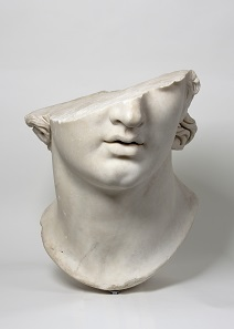 Fragmentary Colossal Head of a Youth. Greek, Hellenistic period, 2nd century B.C. Marble. H. 22 7/8 in.(58 cm). Antikensammlung, Staatliche Museen zu Berlin (AvP VII 283). Image: © SMB / Antikensammlung.