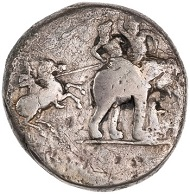 Alexander III. Silver Decadrachm, 323 BC - 322 BC, Babylon. ID 1959.254.86. © Photo: American Numismatic Society.