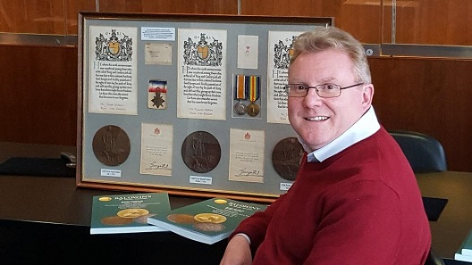 Mark Smith, who will be handling Baldwin's Medals and Orders Department.