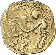 Lot 3: PARISII (Celts). Gold stater, around 60 BC. Very rare. Good very fine. Estimate: 20,000 euros. Hammer price: 23,000 euros.
