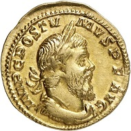 Lot 146: POSTUMUS, 260-268. Aureus, 261, Cologne. Extremely rare. Good very fine / Extremely fine. Estimate: 20,000 euros. Hammer price: 38,000 euros.