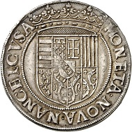 Lot 1140: FRANCE / LORRAINE. Charles III, 1545-1608. Reichstaler n.d. (1559). Ex Vogel Collection. Very rare. Extremely fine. Estimate: 15,000 euros. Hammer price: 28,000 euros.