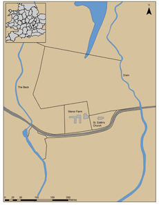 Near Little Carlton, a town in Lincolnshire, Graham Vickers discovered remnants of an important Anglo-Saxon settlement from the 8th/9th century AD. Source: University of Sheffield.