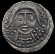 About 100 of these silver coins (sceat) were found. Photo: Portable Antiquities Scheme.