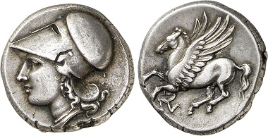 Syracuse. Didrachm, 317-289. From Gorny & Mosch Auction 224 (2014), 77.