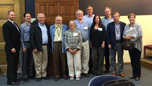 The Citizens Coinage Advisory Committee, June 27, 2016, at the Denver Mint. Left to right: Dennis Tucker, Steve Roach, Donald Scarinci, Herman Viola, Jeanne Stevens-Sollman, Robert Hoge, Erik Jansen, Heidi Wastweet, Michael Moran, Thomas Uram, and chair Mary Lannin. (Photo courtesy of Steve Roach.)