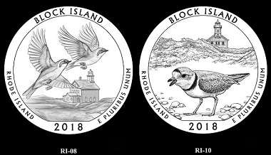The design for the Block Island coin.