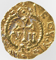 Merovingians. Triens of mintmaster Gratus, 600-650. Photo: Swiss National Museum.
