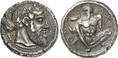Naxos. Tetradrachm, ca. 460. From Gorny & Mosch Auction 215 (2013), 695.