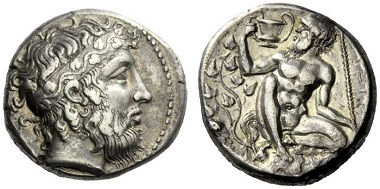 Naxos. Tetradrachm, ca. 415. From NAC Auction 82 (2015), 47.