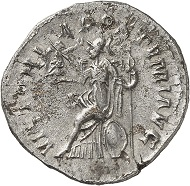 Antoninianus, unknown mint, 263. Rev. VICTORIA POSTVMI AVG Roma seated r., on outstretched right arm Victory. From the forthcoming Jacquier Auction 42 (16.9.2016), Lot 526. Very fine. Estimate: 4,500 euros.