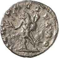 Imitation of Postumus' coinage. Antoninianus, mint II(?). Rev. HERC - PACIFERO. Hercules l. From the forthcoming Jacquier Auction 42 (16.9.2016), Lot 822. Extremely fine / Almost extremely fine. Estimate: 50 euros.